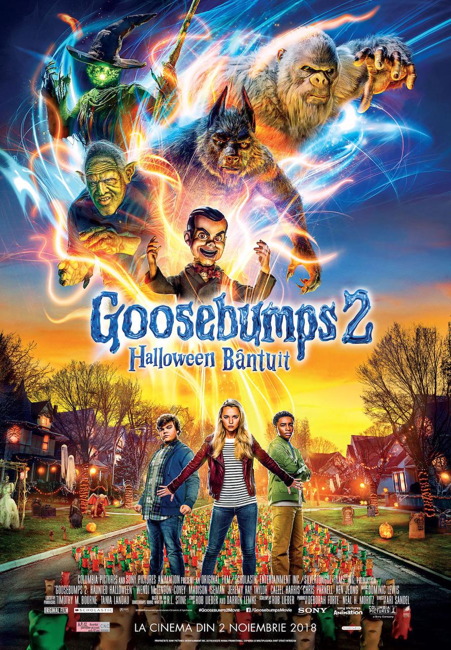 """""""goosebumps 2: halloween bântuit"""", gata să ne dea fiori, la cinema """"Goosebumps 2: Halloween bântuit"""", gata să ne dea fiori, la cinema afis Goosebumps 22"""