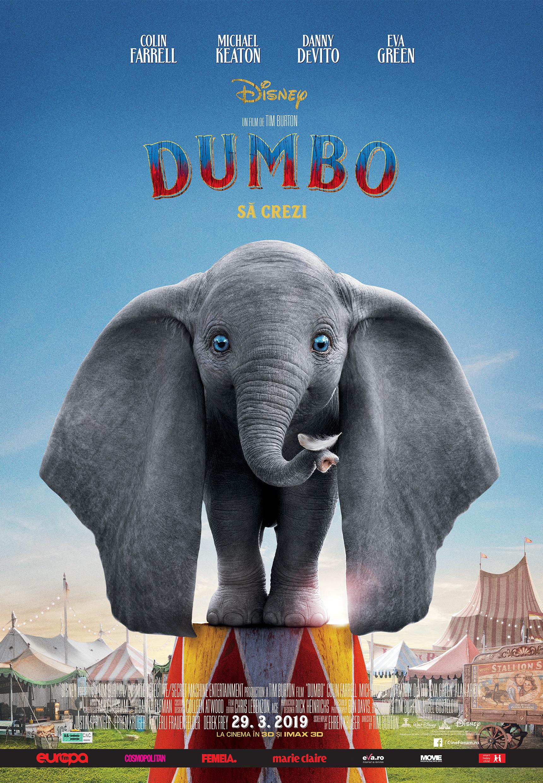 doua romance au participat la realizarea efectelor vizuale la dumbo, cel mai nou film al lui tim burton Doua romance au participat la realizarea efectelor vizuale la Dumbo, cel mai nou film al lui Tim Burton varianta finala afis