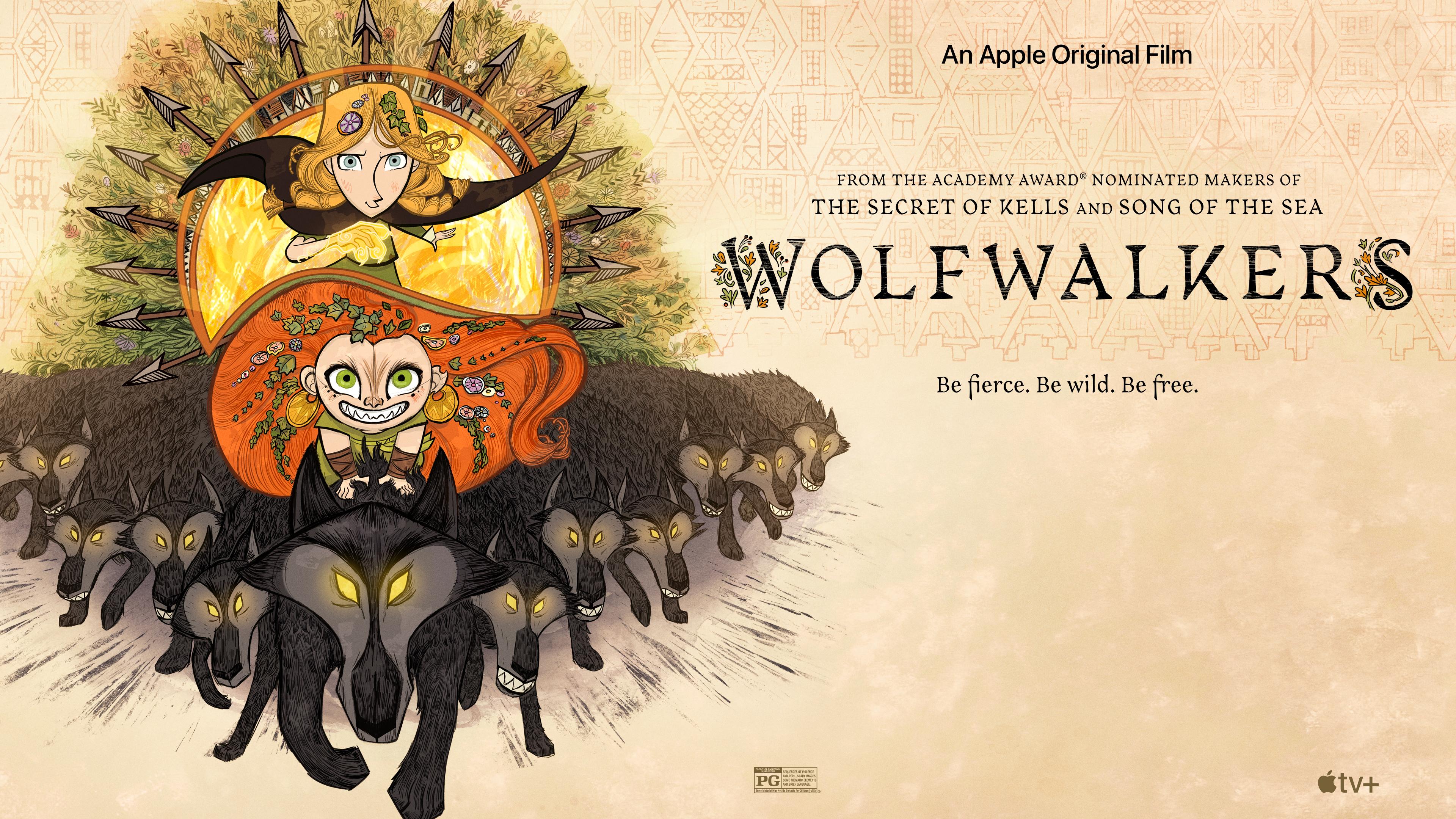 "cartoon saloon returns to irish folklore with the beautiful, exhilarating ""wolfwalkers"" Cartoon Saloon returns to Irish folklore with the beautiful, exhilarating ""Wolfwalkers"" Apple TV Wolfwakers key art 16 9"